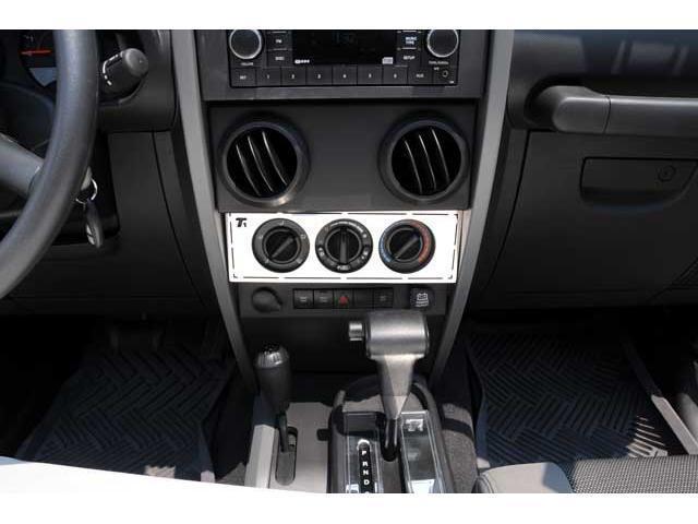 T-REX 2007-2010 Jeep Wrangler T1 Series Interior Dash Trim - Climate Control Panel MACHINED 10488