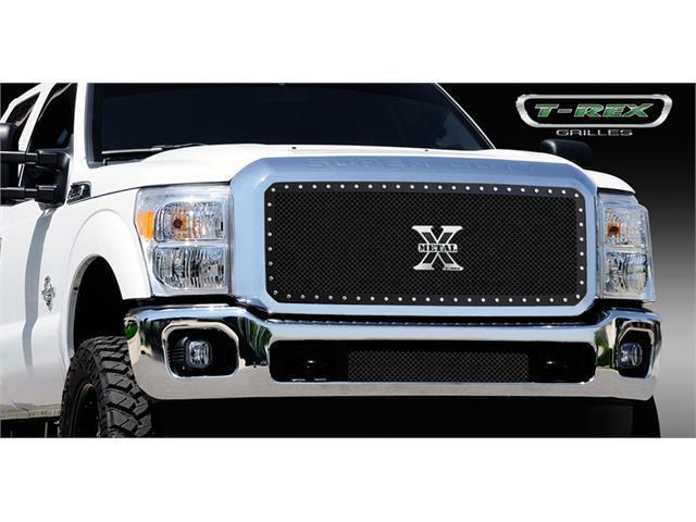 T-REX 2011-2012 Ford Super Duty X-METAL Series - Studded Main Grille - Black - 1 Pc BLACK 6715461