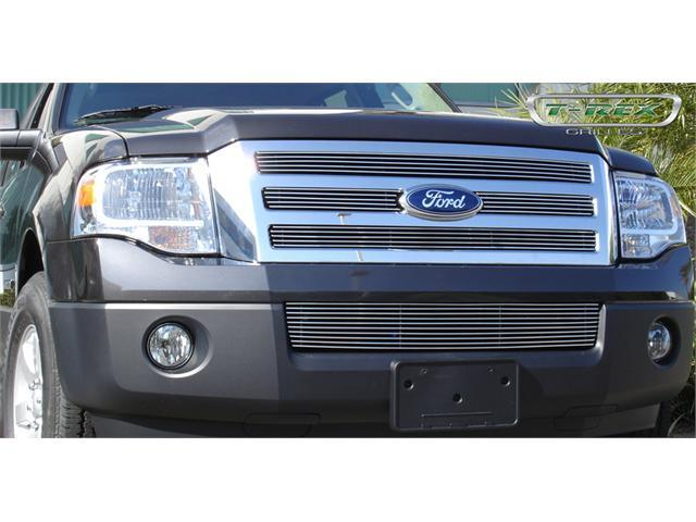 T-REX 2007-2012 Ford Expedition Billet Grille Bolt On Easy Install - 4 Pc Design (4 Bars each) POLISHED 21594
