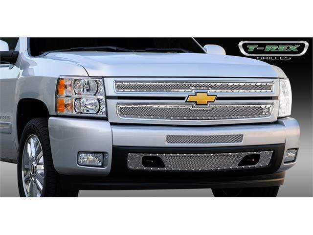 T-REX 2007-2012 Chevrolet Silverado 1500 X-METAL Series - Studded Main Grille - Polished SS - 2 Pc Style POLISHED 6711100