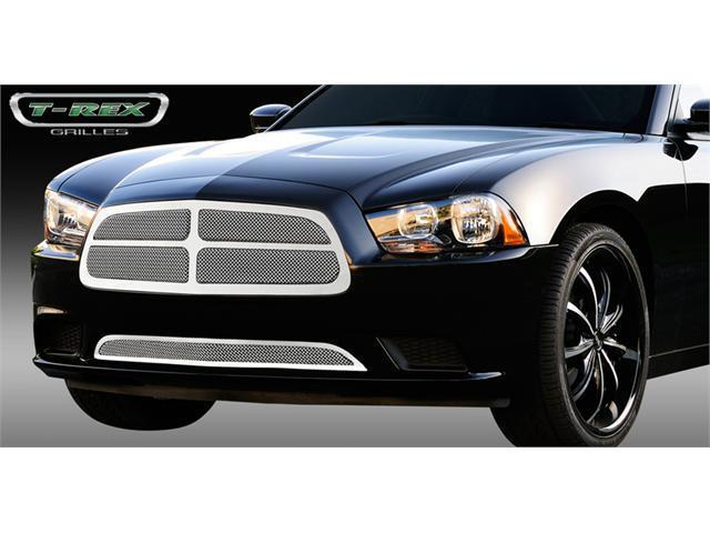 T-REX 2011-2011 Dodge Charger Upper Class Polished Stainless Mesh Grille - With Formed Mesh - 4 Pc Look POLISHED 54442