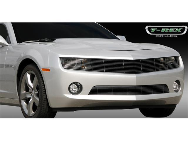 T-REX 2010-2012 Chevrolet Camaro (ALL) Phantom Billet Grille - All Black - OE Bowtie can be re-installed (Optional) BLACK 20027B