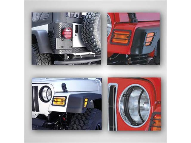 Rugged Ridge 12495.02 Euro Guard Light Kit, 97-06 Jeep Wrangler TJ