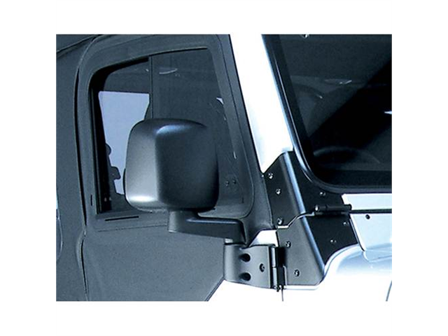 Rugged Ridge 11002.10 Door Mirror, Black, Right Side, 87-06 Jeep Wrangler