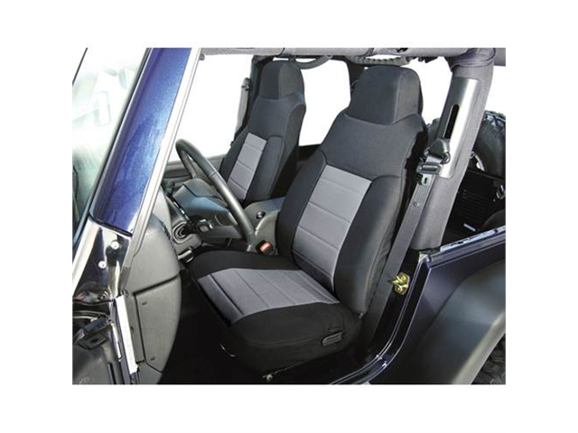 Rugged Ridge 13242.09 Fabric Front Seat Covers, 76-90 Jeep CJ And Wrangler