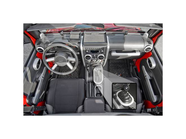 Rugged Ridge 11151.90 Interior Trim Accent Kit, Brushed Silver, 07-10 Jeep Wrangler JK