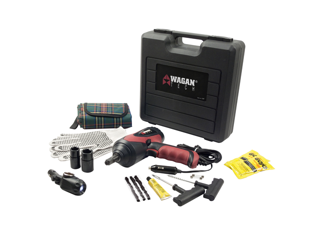 Wagan 12V Auto Impact Wrench Kit w/ Tire Patch Kit 2287