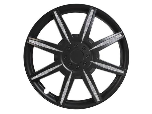 Pilot Diamond Dust 16 Inch Wheel Cover, Matte Black WH531-16B-B
