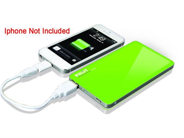 Pilot Green 4600 Powerbank with Micro USB in for Charging with USB out for Supplying Power CA-9000G