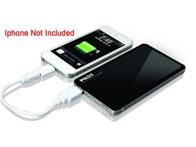 Pilot Black 4600 Powerbank with Micro USB in for Charging with USB out for Supplying Power CA-9000E