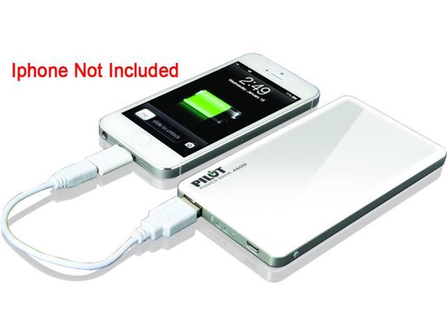 Pilot White 4600 Powerbank with Micro USB in for Charging with USB out for Supplying Power CA-9000W