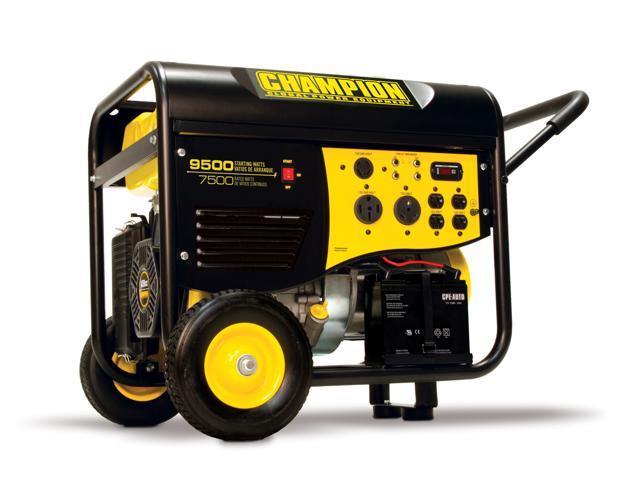 Champion Power Equipment 7500/9500 Watt Rv/Heavy Duty Electric Start Portable Gas-Powered Generator  50 Amp  Carb Compliant ...