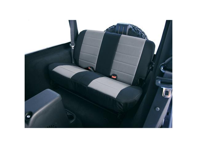 Rugged Ridge 13262.09 Neoprene Rear Seat Covers, 80-95 Jeep CJ And Wrangler