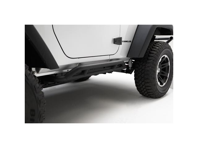 Rugged Ridge 11504.23 RRC Rocker Guards, Black, 07-14 Jeep Wrangler JK