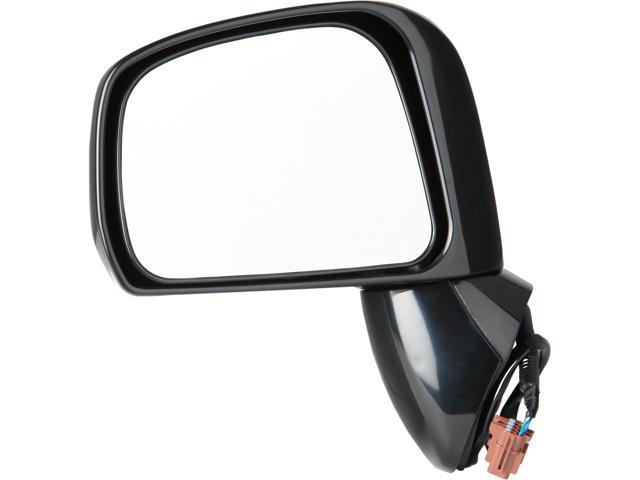Pilot 08-08 Nissan Versa Sedan Type2 09-10 Nissan Versa Sedan S, SL Model 08-10 Nissan Versa Hatchback Power Non Heated Mirror Left Black Smooth NSW09410AL