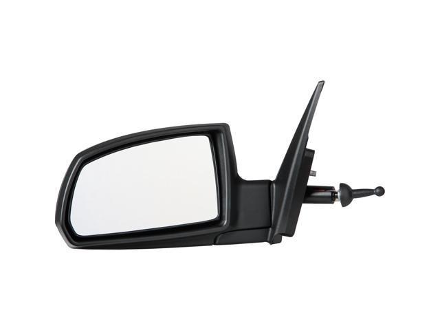 Pilot 06-09 Kia Rio Sedan Manual Remote Mirror Left Black Smooth/Textured KA7194100L
