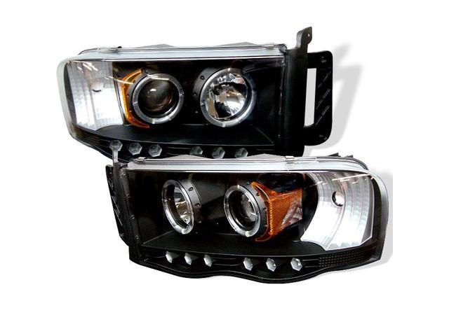 Spyder Auto Dodge Ram 1500/2500/3500 02-05 Halo LED ( Replaceable LEDs ) Projector Headlights - Black PRO-YD-DR02-HL-BK