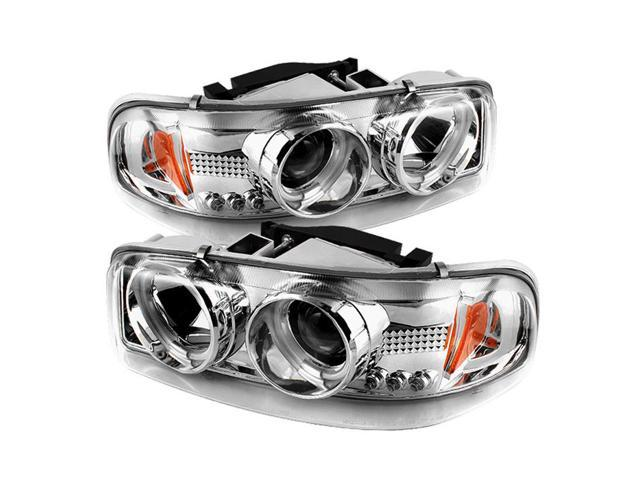 Spyder Auto GMC Sierra 1500/2500/3500 99-06 / GMC Sierra Denali 02-07 / GMC Yukon/Yukon Denali/Yukon XL 00-06 CCFL LED ( Replaceable LEDs ) Projector Headlights - Chrome PRO-YD-CDE00-CCFL-C