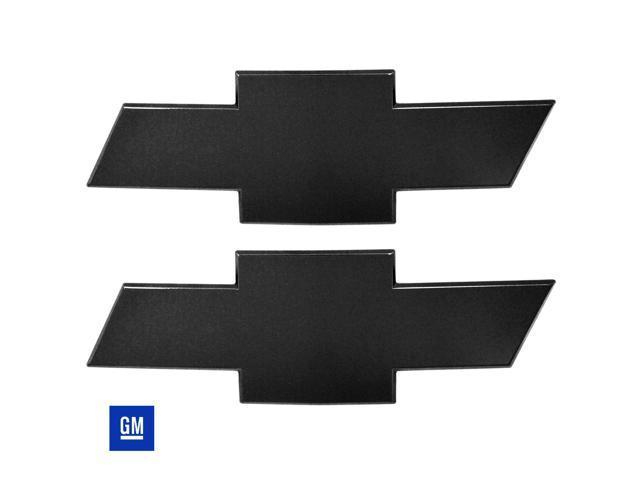 All Sales Chevy Bowtie Grille & Tailgate Emblem W/O Border- Black Powdercoat 96127K