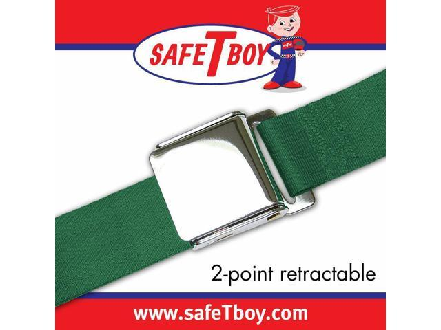 Safe Tboy 2pt Dark Green Retractable Airplane buckle - Each STBSB2RADG