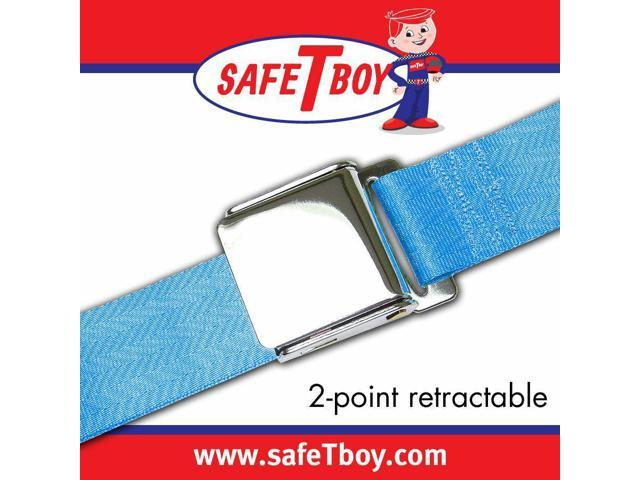 Safe Tboy 2pt Electric Blue Retractable Airplane buckle - Each STBSB2RABL