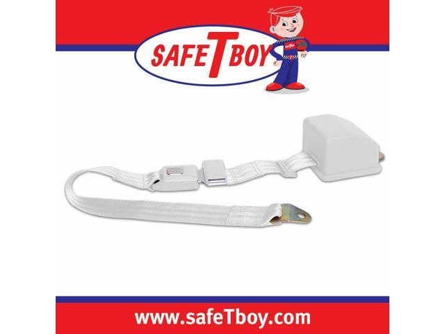 Safe Tboy 2pt White Retractable Standard buckle - Each STBSB2RSWT