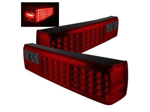 spyder auto ford mustang 87 93 led tail lights red smoke. Black Bedroom Furniture Sets. Home Design Ideas