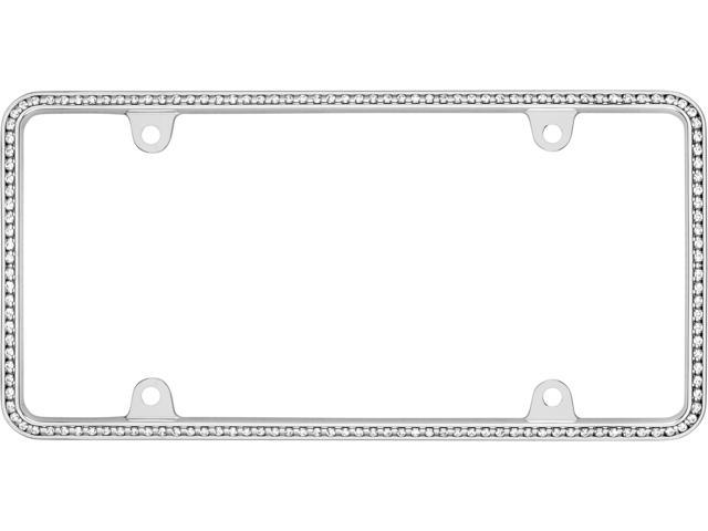 Cruiser Accessories 18130 Diamondesque License Plate Frame - Chrome And Clear