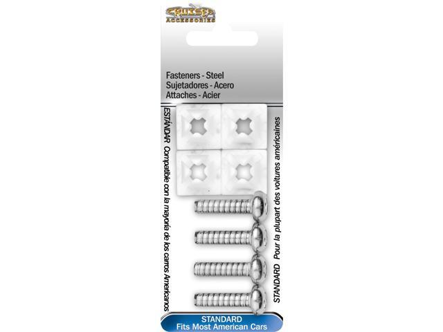 Cruiser Accessories Fasteners, Standard-Steel License Plate Frame Fasteners 80230