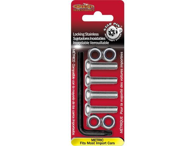 Cruiser Accessories Locking Fasteners, Metric-Stainless Star Pin License Plate Frame Fasteners 81300