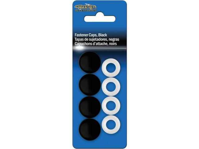 Cruiser Accessories Fastener Caps, Black License Plate Frame Fasteners 82650