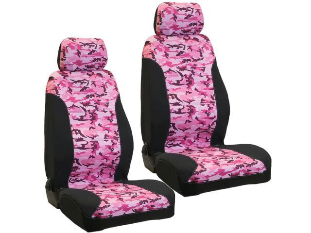 haegan 10177 vehicle seat cover 600d pink camo w headrests large pair. Black Bedroom Furniture Sets. Home Design Ideas