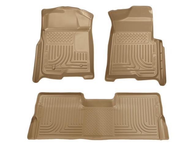 Husky Liners Weatherbeater Series Front & 2Nd Seat Floor Liners 98383 2008-2010  Ford F-250 Super Duty