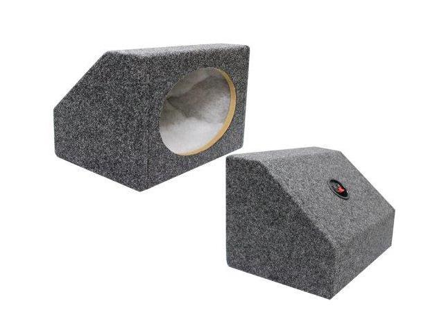 Absolute USA 6 X 9 Inches Angled/Wedge Box Speakers, Set of Two (Grey) 6X9PKG