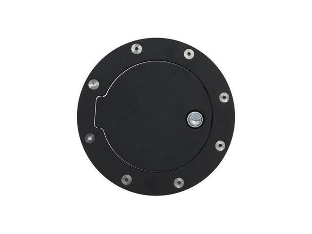 Bully Fuel Filler Door Cover Textured Black Powder Coat Billet Aluminum BBS-1222CK