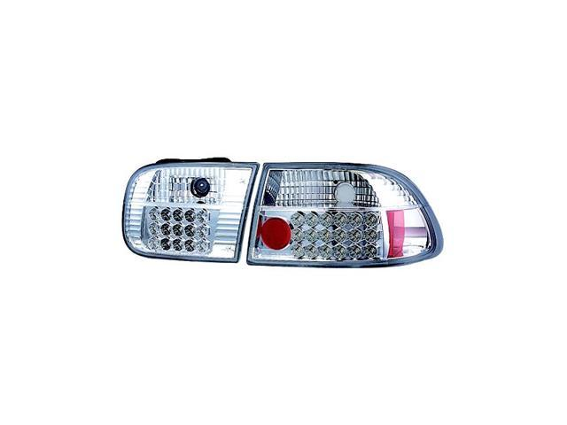 IPCW Tail Lamp LED LEDT-728C2 92-95 Honda Civic Crystal Clear