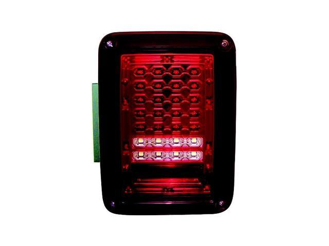 IPCW Tail Lamp LED LEDT-420CR 07-09 Jeep Wrangler Ruby Red