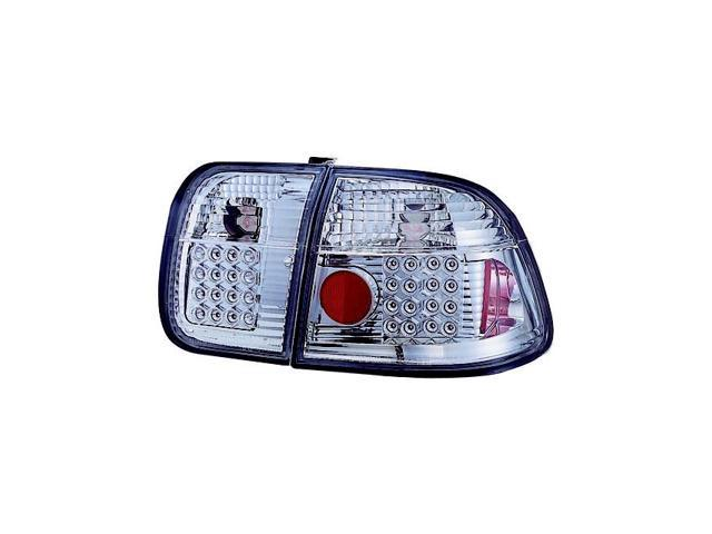 IPCW 96-98 Honda Civic Tail Lamps LED 4 Door Crystal Clear LEDT-732C2 Pair