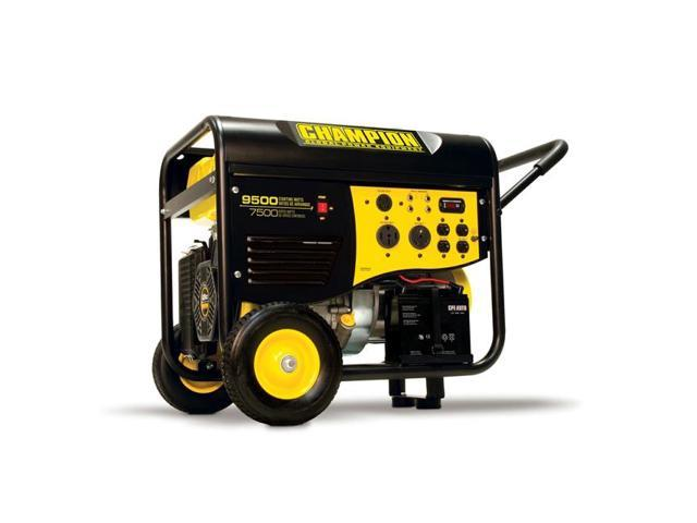 Champion Power Equipment 7500/9500 Watt Rv/Heavy Duty Electric Start Portable Gas-Powered Generator  50 Amp  Carb Compliant 41534