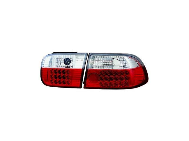 IPCW Tail Lamp LED LEDT-727R2 92-95 Honda Civic Ruby Red