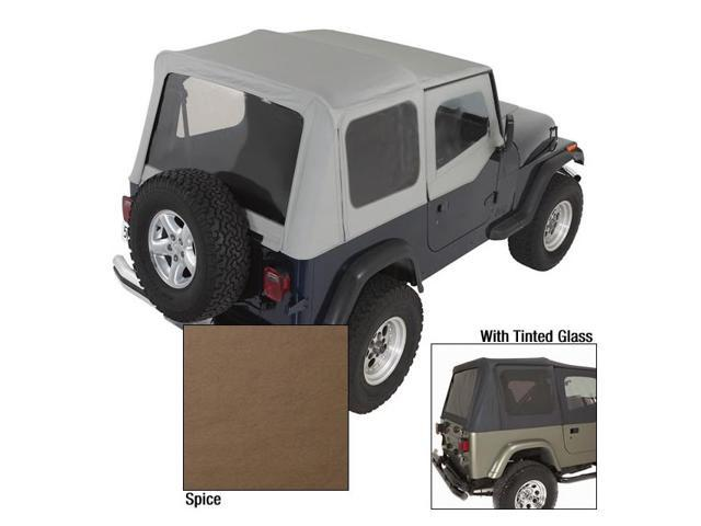Rugged Ridge 13722.37 XHD Soft Top, Spice, Tinted Windows, 88-95 Jeep Wrangler YJ