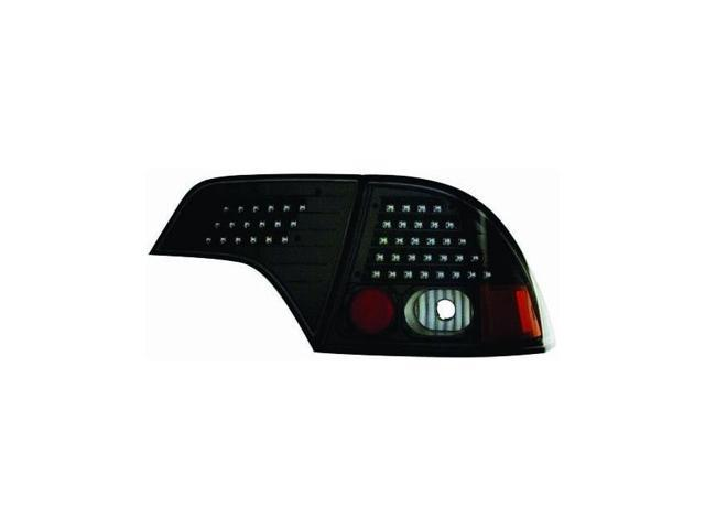 IPCW 06-10 Honda Civic Tail Lamps LED 4 Door W/O Red Cap (4ps): clear lens+black housing+no red cap Bermuda Black LEDT-745CB