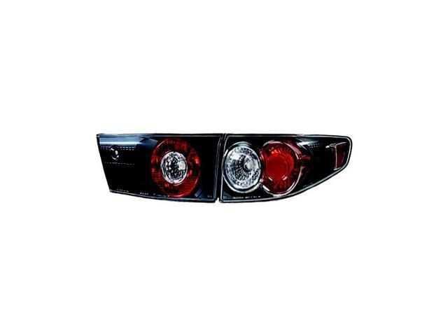 IPCW 03-04 Honda Accord Tail Lamps Crystal Eyes 4 Door (4 pc/set) Bermuda Black CWT-714B2