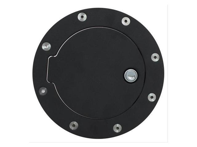 Bully Fuel Filler Door Cover Textured Black Powder Coat Billet Aluminum BBS-1232CK