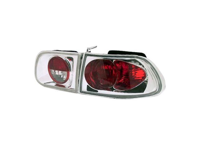 IPCW 92-95 Honda Civic Tail Lamps Crystal Eyes 3 Dr. H/B Crystal Clear CWT-728C