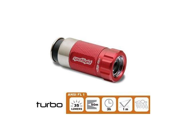 Spotlight LED Flash light Race Car Red, Rechargeable in 12volt Cigarette outlet