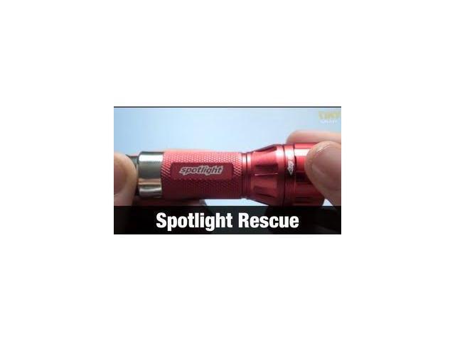 Spotlight Rescue LED Flashlight, Rechargable 96+ Lumens
