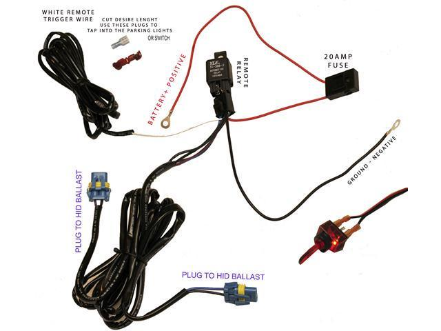 16 gauge Wiring Harness for 2 x HID lights output