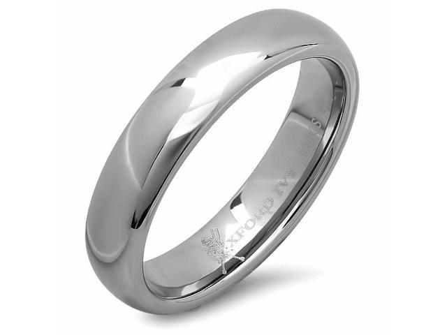 5mm Mens Plain Comfort Fit Tungsten Wedding Band ( Available Ring Sizes 7-12) sz 8 3/4