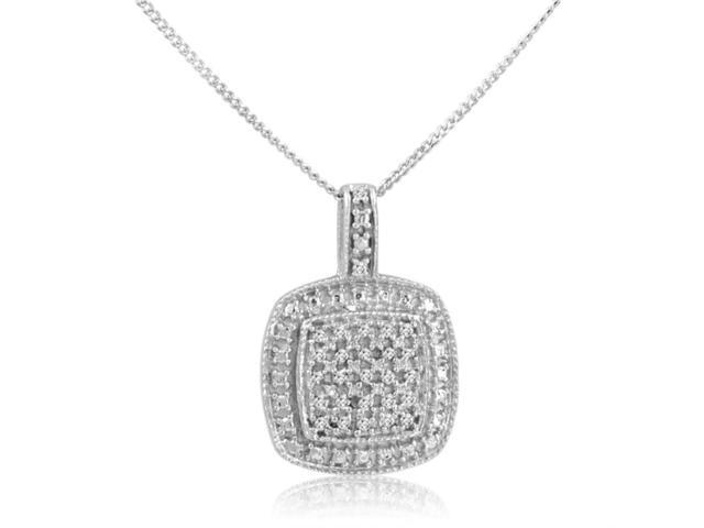 1/10ct tw Diamond Pendant-Necklace in Sterling Silver on an 18in Chain